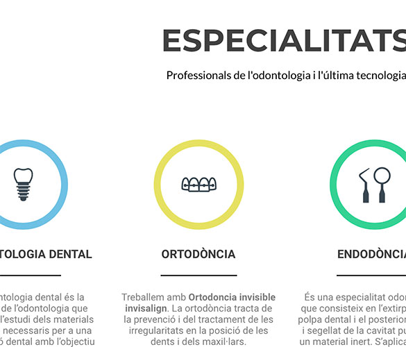 Indrets Digitals Multimedia Studio Web Seo Botiga on-line Shop Tienda - Clinica Dental Santa Coloma